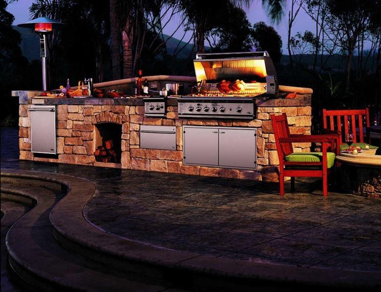 Barbecue a gas pietra lavica barbecue caratteristiche - Barbecue in giardino ...