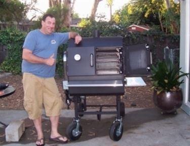 barbecue con ruote.