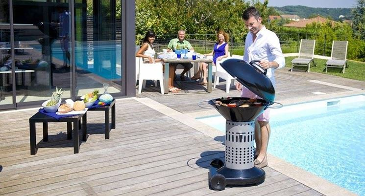 Barbecue a carbonella trasportabile