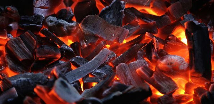 Carbonella durante la combustione