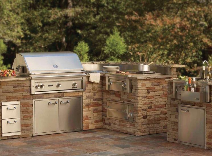 spazio da esterno per cucina. idee cucine per esterno da ...