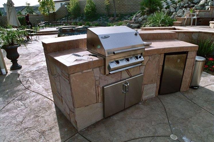 Barbecue in pietra lavica barbecue caratteristiche del barbecue in pietra lavica - Barbecue in pietra per esterni ...