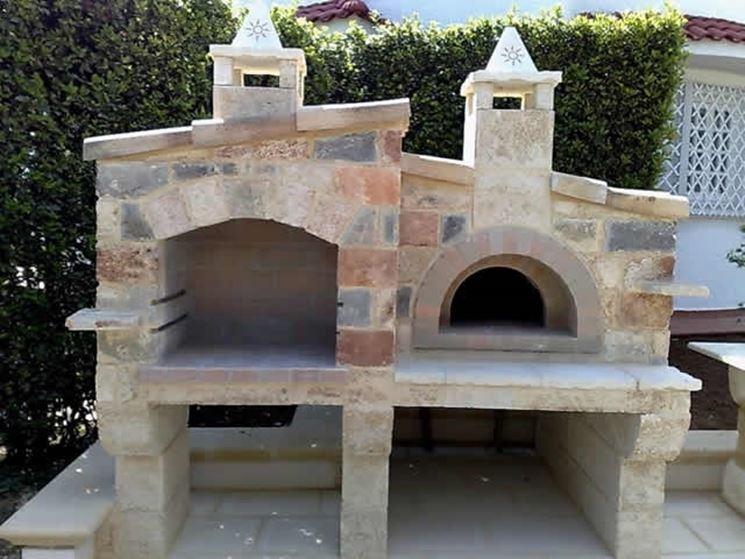 Forno per pizza in muratura ap08 regardsdefemmes - Barbecue da esterno ...