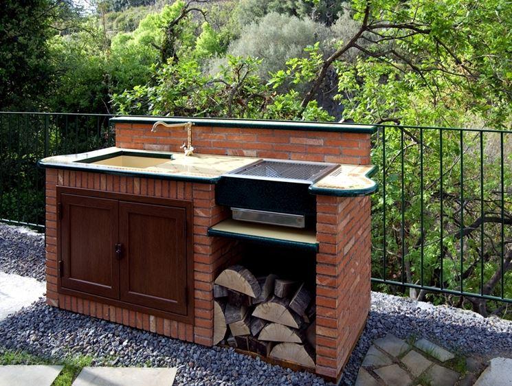 barbecue da incasso giardino