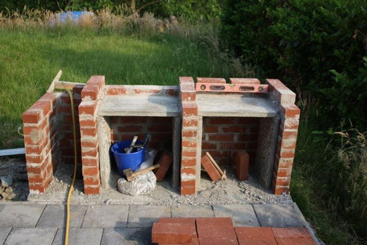 Inizio costruzione barbecue