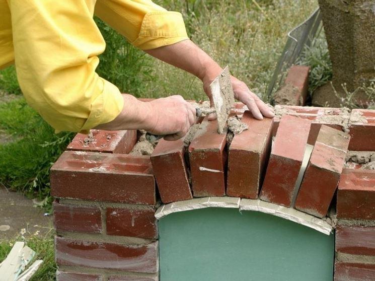 Lavori di costruzione del barbecue