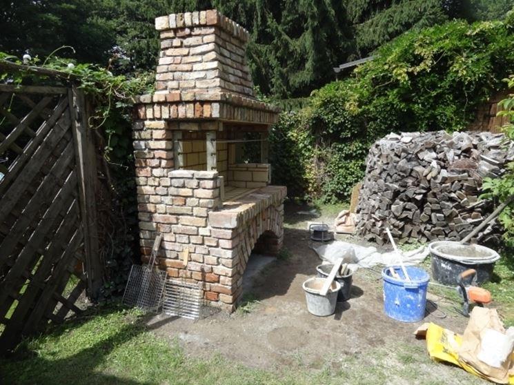 Barbecue in muratura finito