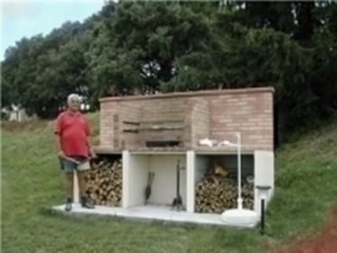 barbecue enorme.