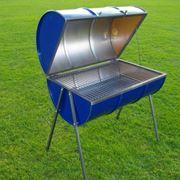 Barile aperto a met� per fare un barbecue