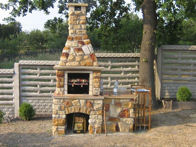 Costruire un barbecue in muratura barbecue barbecue in - Barbecue da esterno ...