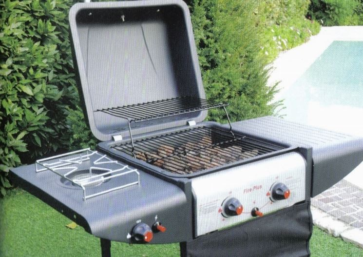 barbecue con forno.