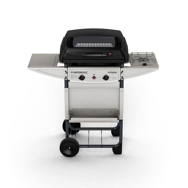 Barbecue portatile con griglia a pietra lavica