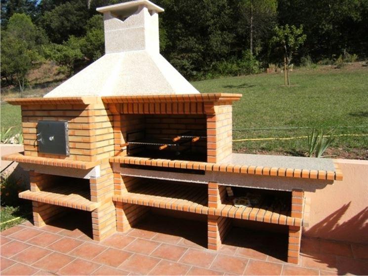Barbecue in mattoni refrattari