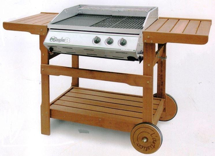 Barbecue con pietra lavica