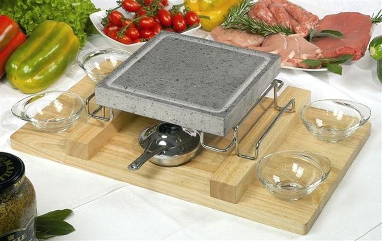 Comodit� e benessere con la cucina su pietra lavica