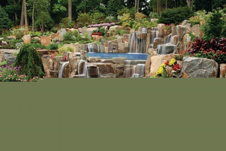 Fontana in pietra naturale