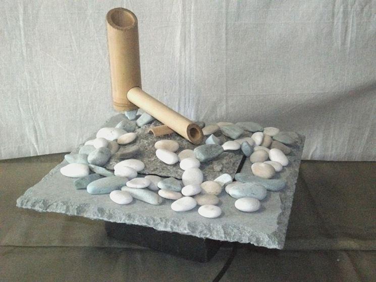 Fontana zen di bambù