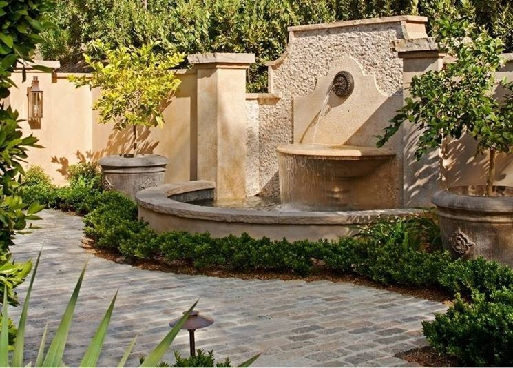 Fontane da giardino in pietra fontane fontane da - Accessori per fontane da giardino ...
