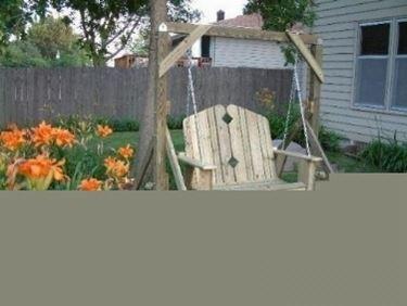 altalena in giardino