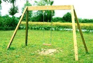 Altalene in legno giochi da giardino - Altalena da giardino in legno ...