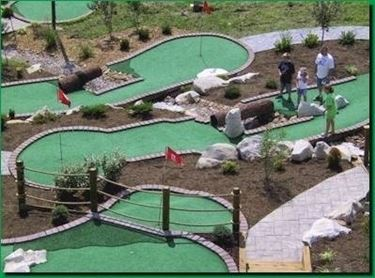 Un esempio di mini golf.
