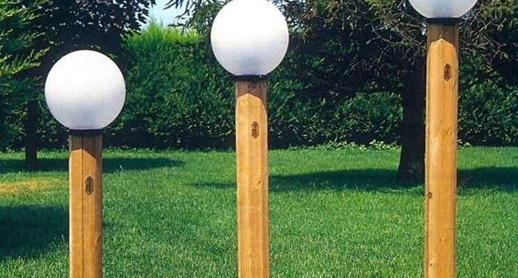 Lampioncini di legno da giardino