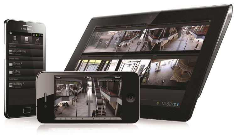 Le immagini della videosorveglianza ricevute su smartphone e tablet