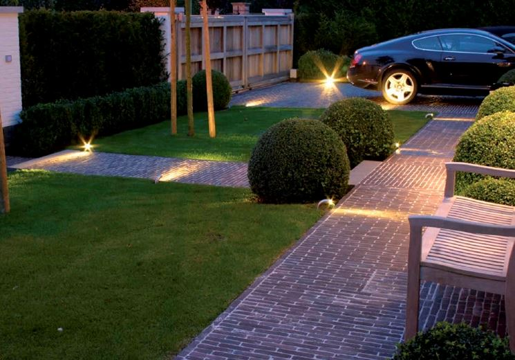esempio illuminazione giardino