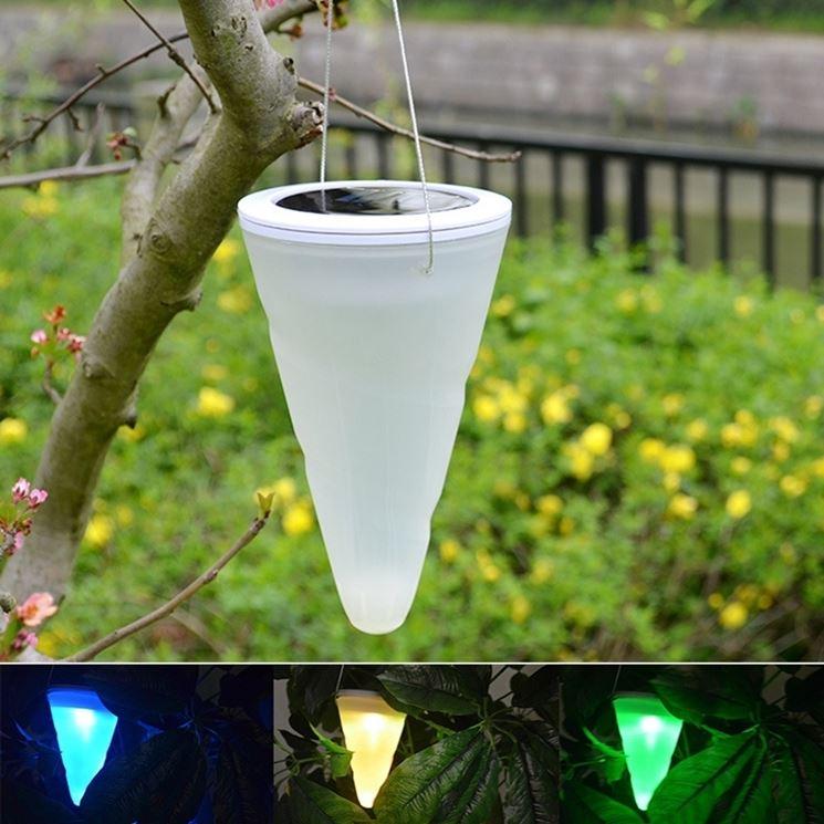 luce a sospensione da giardino solare