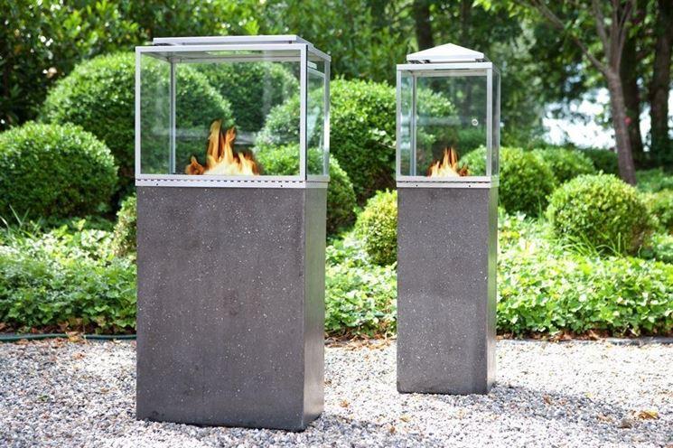lanterne da giardino a bioetanolo