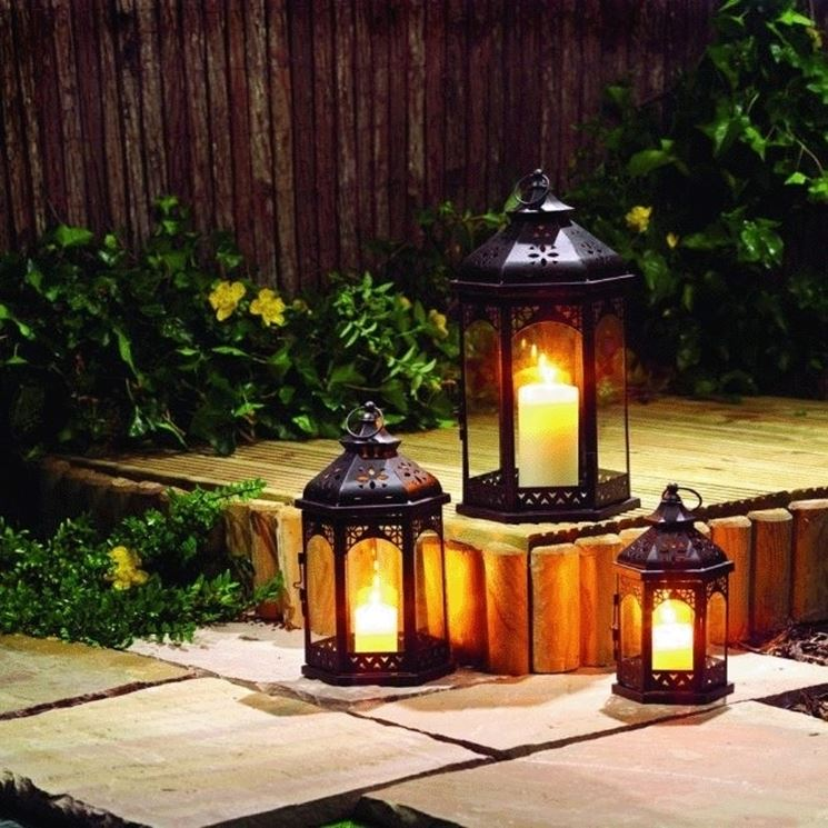 Luci per giardino illuminazione giardino illuminare il giardino - Candele per esterno ...