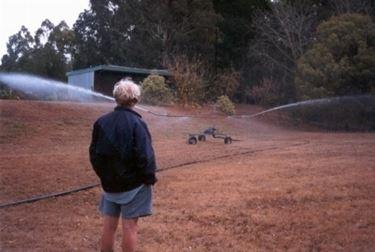 irrigatore con ruote