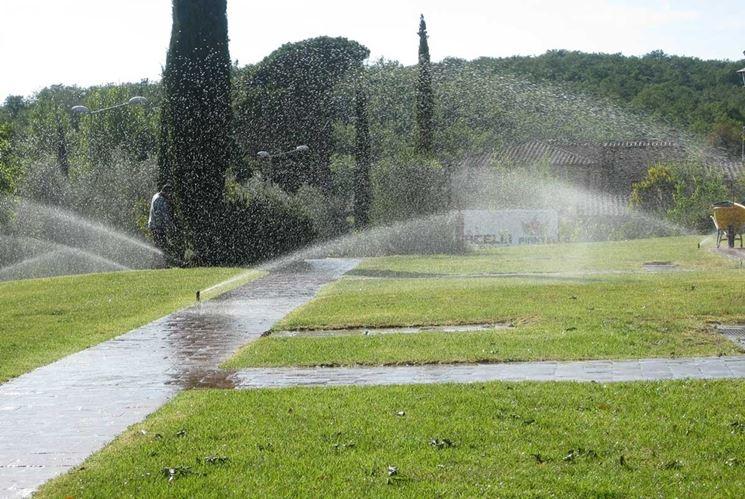 Impianto di irrigazione all'aperto