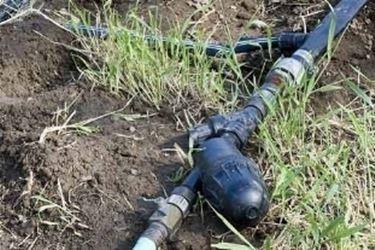 classico impianto d'irrigazione a goccia