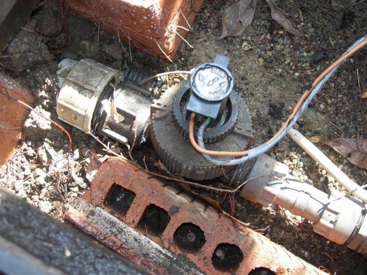 Alcune valvole di impianto di irrigazione