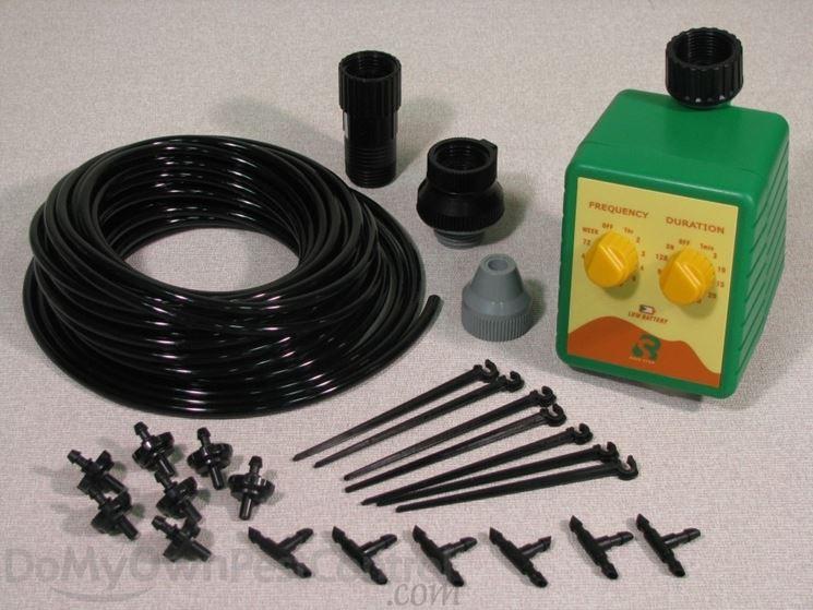 Un classico kit per l'irrigazione automatica