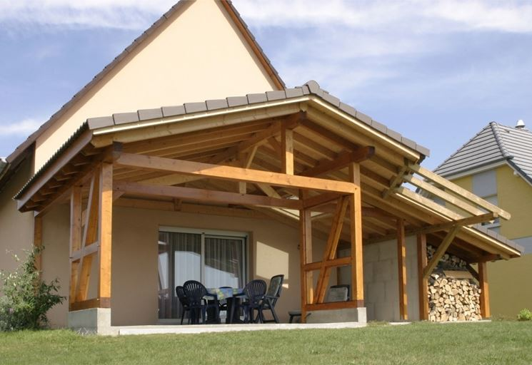 Come costruire una tettoia pergole e tettoie da giardino - Pergole da giardino ...