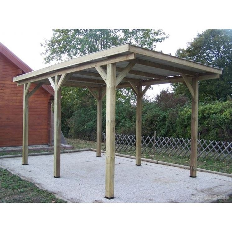 Come costruire una tettoia - Pergole e tettoie da giardino - Tettoia ...