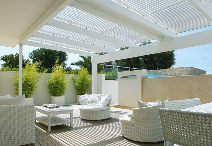 Copertura per verande pergole e tettoie da giardino for Veranda con caminetto a gas schermato