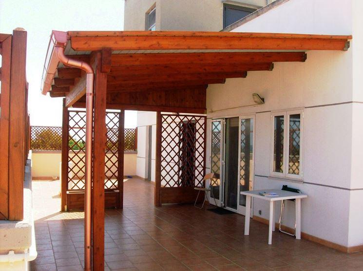 pergolati in legno con copertura vetro : Pergolati In Legno Con Copertura Vetro : Copertura terrazzo in legno ...