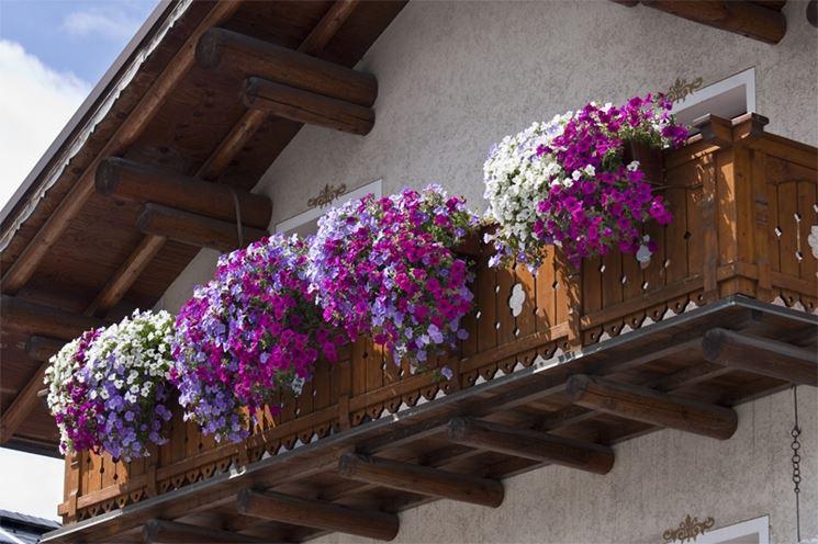 copertura e balcone in legno