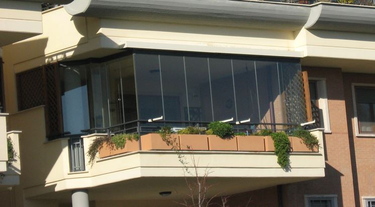 copertura trasparente per balconi