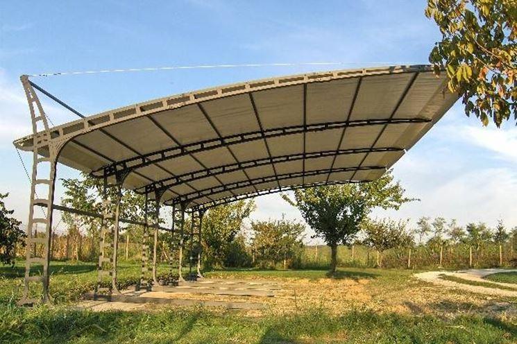 Coperture per auto pergole e tettoie da giardino - Pergole da giardino ...