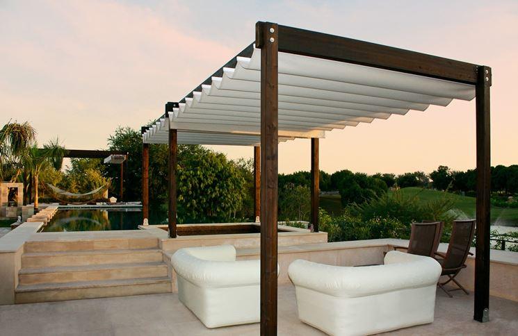 Coperture per esterno pergole e tettoie da giardino - Tettoie in legno per esterno ...