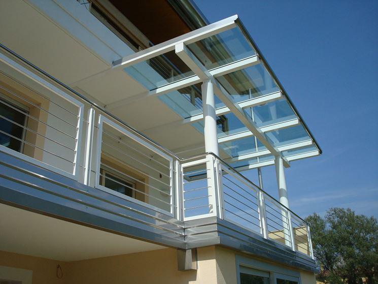 Copertura per terrazzi in vetro