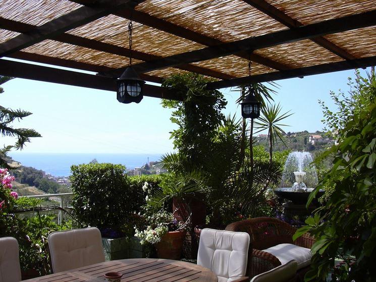 Coperture per terrazze pergole e tettoie da giardino for Arredamenti esterni per terrazzi