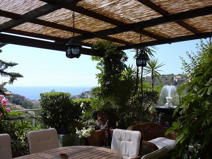 Coperture per terrazze pergole e tettoie da giardino - Giardini sui terrazzi ...