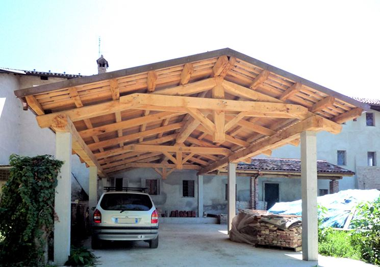 Copertura per tettoie in legno