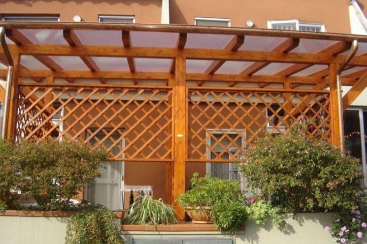 Coperture terrazzi in legno - Pergole e tettoie da giardino - Come coprire un terrazzo con ...