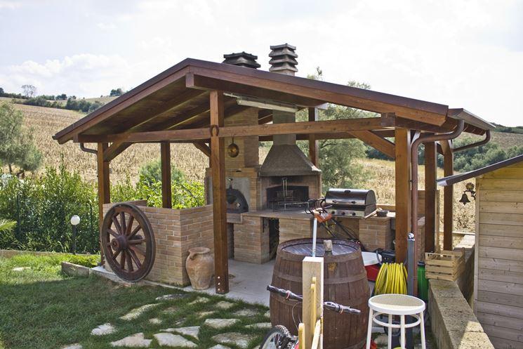 Pensiline in legno pergole e tettoie da giardino - Costruire casette in legno fai da te ...